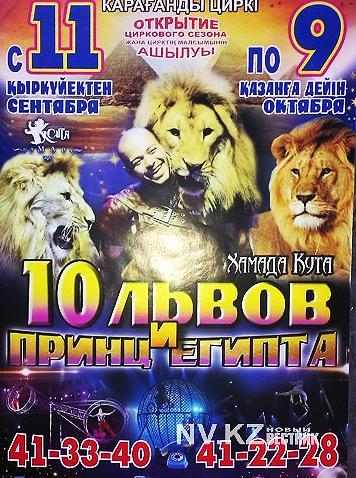 Программа цирка в караганде